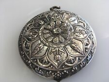 Antique Asian Thailand akha other Tribal Sterling Silver chest ornament plate