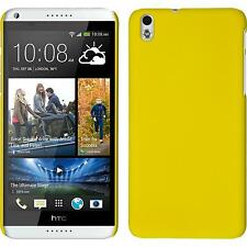 Hardcase HTC Desire 816 rubberized yellow Cover + protective foils