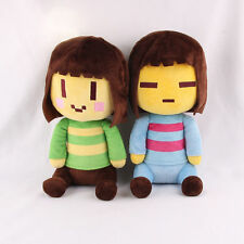 "2pcs/set Cute Undertale Frisk and Chara Plush Doll Stuffed Toy 8"" 20cm"