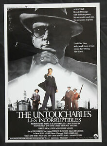 Original 'The Untouchables' One Sheet Movie Poster Folded 1987 Vintage De Niro