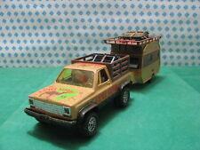 """Vintage RARE - BRONCO 4X4 + Caravan Raphael 201 """"Camel Safari""""   - 1/25 GIODI"""