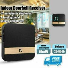 US Plug Wireless WiFi Doorbell Chime Ding-Dong Smart Door Bell Receiver 10W USA