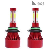 pair 4-sides LED Headlight Kit 9006 HB4 9012 2000W 6000K 300000LM Hi/low Bulb IY