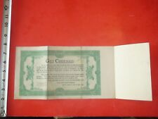 JJ993 Vintage Ad Sample Gift Certificate Adams Stamp & Stationery Co St.Louis MO