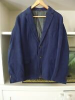 GANT NAVY BLUE FINE CORDUROY / NEEDLECORD JACKET BLAZER - WEEKENDER FIT - EU 50