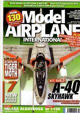 Model Airplane Intl 2014 January #102 A4 Skyhawk,F-5,DH82 Moth,F-14,HU-16A,Bf110