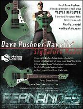 Velvet Revolver Dave Kushner Signature Fernandes Ravelle Elite guitar ad print B