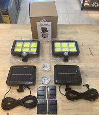 New listing Nacinic Solar Lights Outdoor Motion Sensor W/ 240 Bright, 16.4ft Cable - 2 Sets
