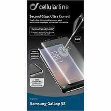 Cellularline Vetro Temperato Galaxy S8 Second Glass Ultr(black Transparent)