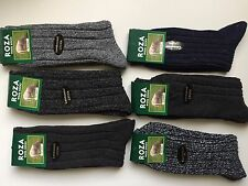 6 pairs MENS LONG WOOL BLEND THERMAL SOCKS TICK WALKING HIKING SKI BOOT   JSDBVC