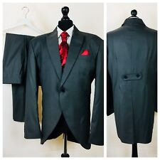 Mens Morning Tailcoat Suit  46R 44W 30L Grey Wedding Ascot Formal Occasion W94A