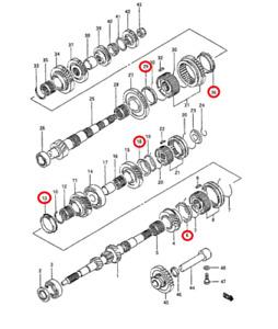 Transmission Manual | Suzuki Swift GTI SF413 | OEM NEW
