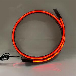 Gloss Black Car Rear Trunk Spoiler Wing LED Brake Lamp Turn Signal LED Light