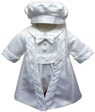 Christening Gown baby boys Christening Suit Romper Jacket And Hat