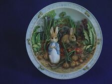 BEATRIX POTTER Bradford Exchange ~ A POCKET FULL OF ONIONS ~  MUSICAL PLATE
