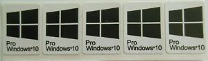 5 x Windows 10 Pro Sticker Badge Logo Decal for laptop PC - HD Quality (black)