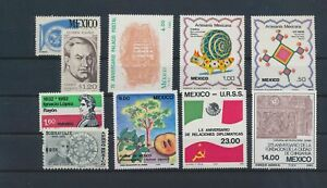 LO43478 Mexico mixed thematics nice lot of good stamps MNH