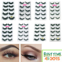 5 Pairs 3D False Eyelashes Long Thick Natural Fake Eye Lashes Set Mink Makeup L
