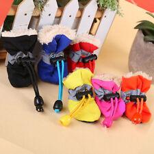 DI- 4Pcs/Set Dog Cat Winter Rain Boots Protective Pet Sports Anti-Slip Shoes Nat