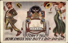 Car Wild Driver Auto Gril Human Face HH Tammen c1910 Postcard