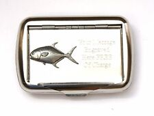 Permit Fish Tobacco Hand Rolling Ups Cigarette Tin FREE ENGRAVING Fishing Gift