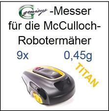 9 Titan cuchillo cuchillo de repuesto suenan 0,45mm para McCulloch Rob r1000 mc Culloch