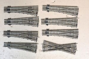 PECO ST-91 ST-250 OO GAUGE 8 x RIGHT INSULFROG POINT & CROSSING TRACK SET 11