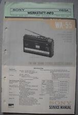 SONY WA-55 Service Manual inkl. MDR-1L1 und Service Info