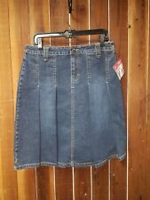 Women's New With Tags Size 10 Pleated Jean Skirt by Kitkit Maurise Sasson