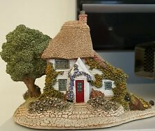 Lilliput Lane Gardeners Cottage 1991 Coa—Displayed Only in Glass Case—Never Sold