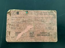 WWII Ration Book #5 Nova Scotia, Canada