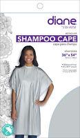 "Diane #DTA01439 Shampoo Cape 36""x 54"" Vinyl self grip Closure (SILVER)"
