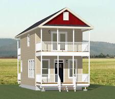 16x28 Tiny Home -- 8:12 Roof Pitch -- PDF Floor Plan -- 810 sqft -- Model 3B