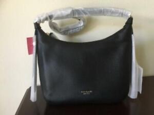 NWT Kate Spade Lake Hobo Leather Bag in Black