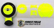 Neon Gelb Folie Dekor Schlüssel Mini A Cooper S SD One D R50 R53 R55 R56 F56 Key