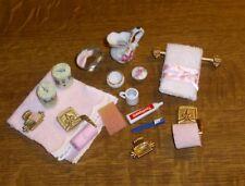 Badezimmerset  alles für das Bad 8 Miniatur 1:12 großes Konvolut