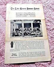 PAMPHLET LAKE GENEVA SUMMER SCHOOL LAKE GENEVA WISCONSIN 1905 CHRISTIAN ASSOCIAT