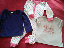 BABY CLOTHES 18-24 MONTHS, SLEEPSUIT,GREY T SHIRT, NAVY  T SHIRT.