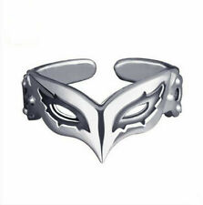 Persona 5 P5 Joker Persona Mask Ring 925 Sterling Silver Adjustable