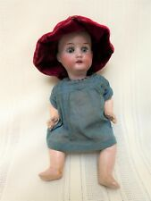 "Heubach Koppelsdorf Antique Baby Doll 7"" 250 14/0 Bisque Head Open Mouth Teeth"
