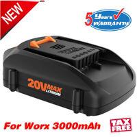 New 20V MAX Lithium Battery for WORX WA3520 WA3525 WA3575 WA3578 WG155s 3000mAH
