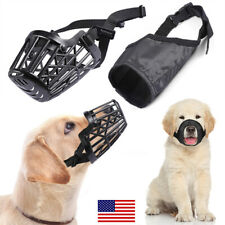 Dog Muzzle Mask Adjustable Mouth Grooming Anti Stop Bark Bite Pet S M L Xl New