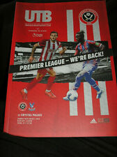 SHEFFIELD UNITED V CRYSTAL PALACE 2019/20 FIRST GAME BACK IN PREM LEAGUE