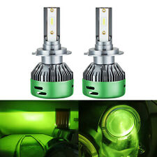 2x H7 LED Headlight Bulbs Conversion Kit Fog Light Super Bright 6000K Lime Green