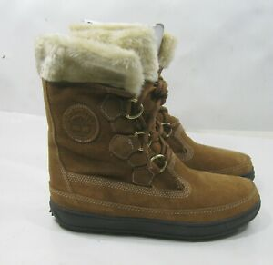 1802R TIMBERLAND  MUKLUK LACE MID CALD SUEDE BOOT  Brown WOMEN SIZE 9