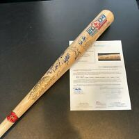 2004 Boston Red Sox World Series Champs Team Signed Baseball Bat With JSA COA
