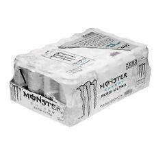 24 Pack Monster Energy Drink Blend Ultra Zero Sugar Free White Bulk Citrus NEW