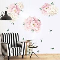 Peony Flowers Wall Sticker Art Nursery Decals Kids Room Bedroom Floral Decor