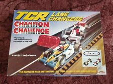TCR slotless Lane Changer Champion Challenge racing car set. Boxed