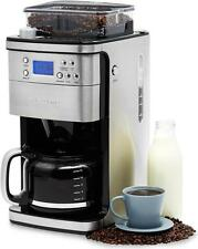 Andrew James Filter Coffee Maker Machine 12 Cup, Timer & Integrated Bean Grinder